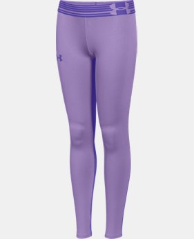 Girls' UA HeatGear® Armour Legging LIMITED TIME: FREE U.S. SHIPPING 2 Colors $20.24