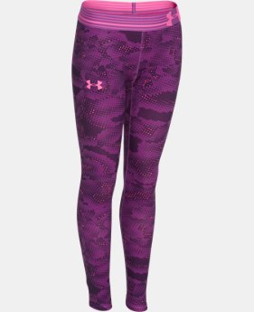 Girls' UA HeatGear® Armour Printed Legging  1 Color $23.99 to $29.99