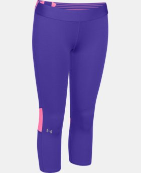 Girls' UA HeatGear® Armour Color Blocked Capri  1 Color $20.99