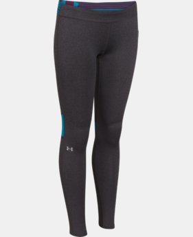Girls' UA HeatGear® Armour Color Blocked Legging