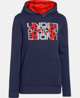 Boys' UA Rival Fleece Logo X2 Hoodie  2 Colors $23.99 to $29.99