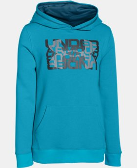 Boys' UA Rival Fleece Logo X2 Hoodie  1 Color $23.99 to $29.99