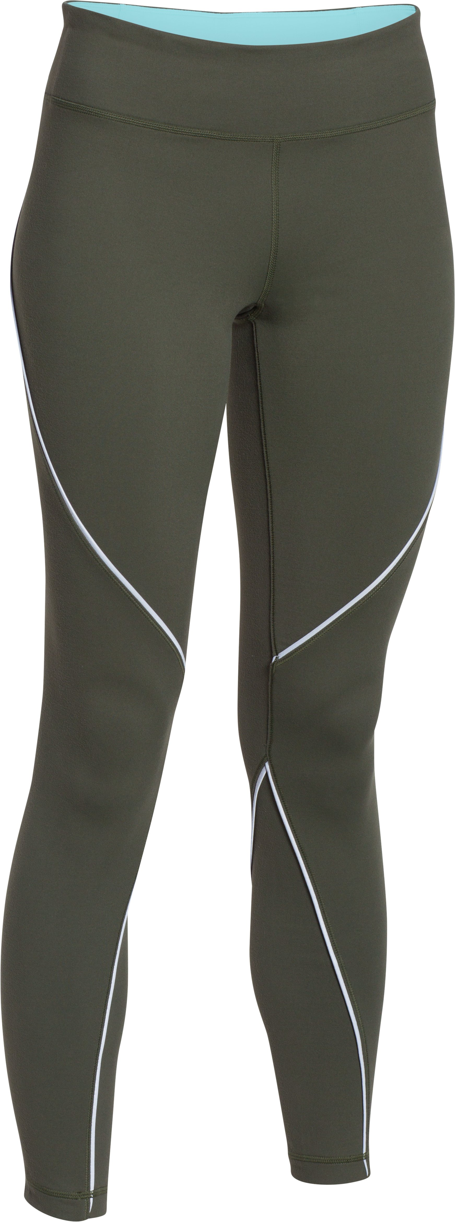 Women's UA Studio Reflect Legging, DOWNTOWN GREEN,