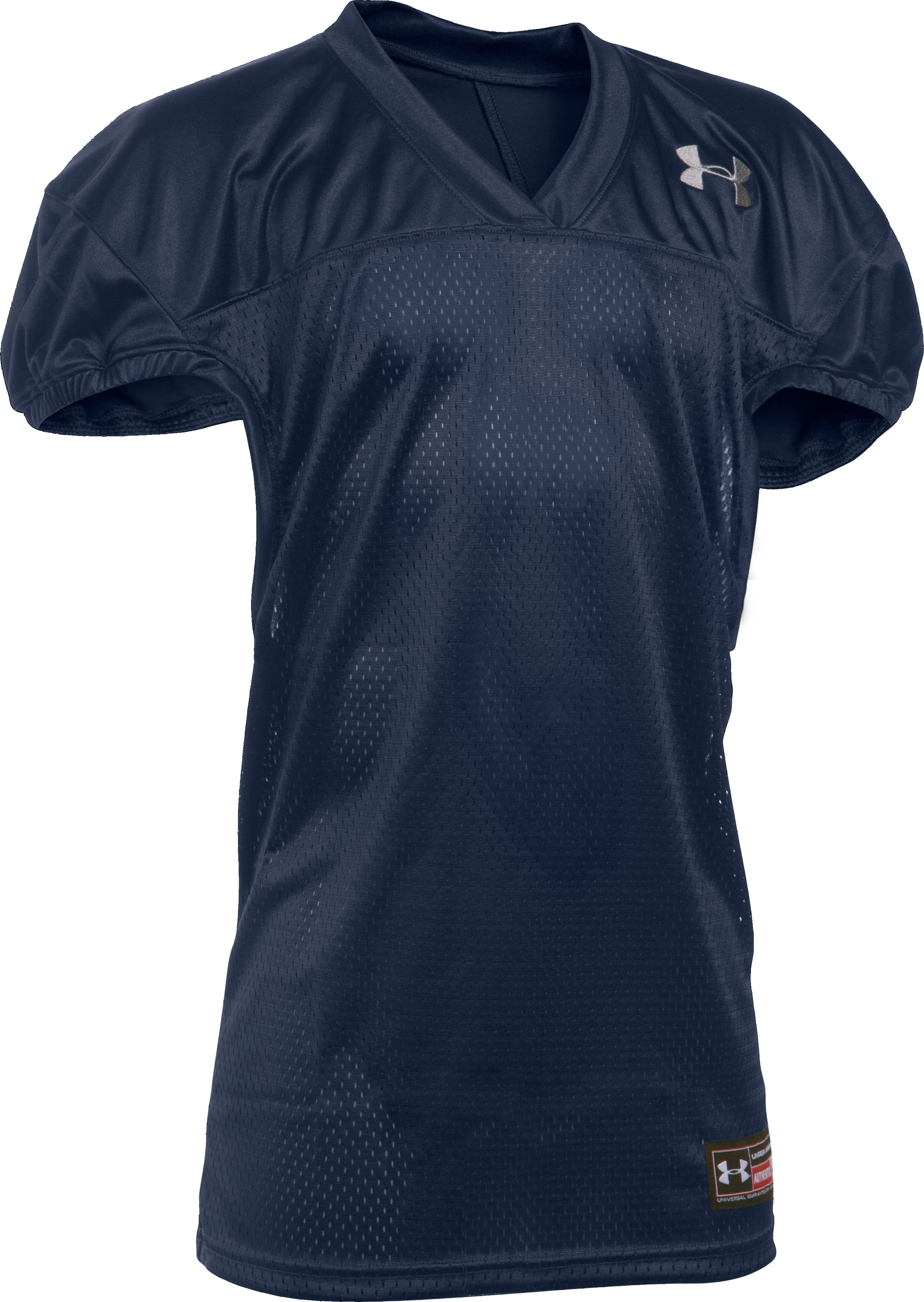 Boys' UA Football Jersey, Midnight Navy, zoomed image