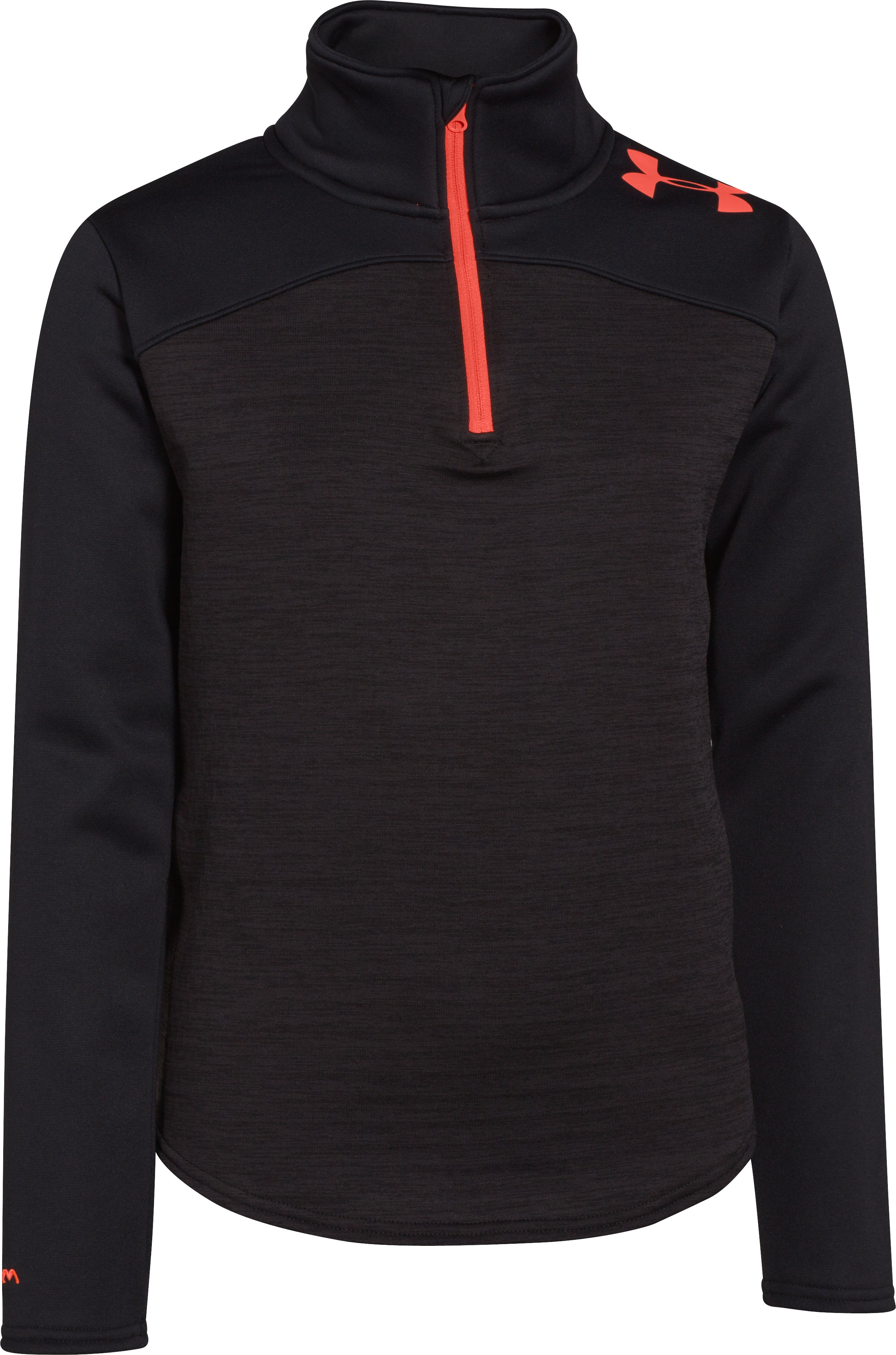 Girls' UA Gamut 1/4 Zip, Asphalt Heather, undefined