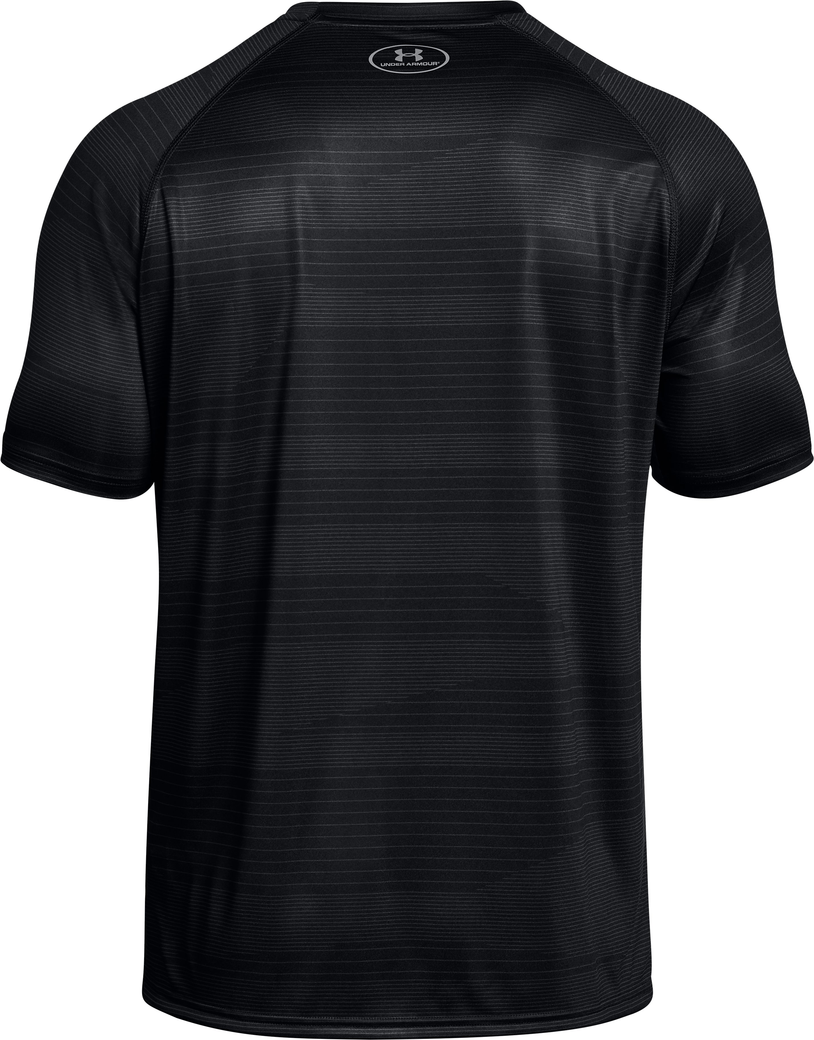 Men's UA Tech™ Printed Short Sleeve T-Shirt, Black
