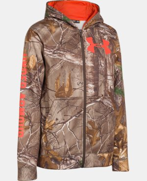Boys' UA Caliber Camo Hoodie LIMITED TIME: FREE U.S. SHIPPING 1 Color $48.99