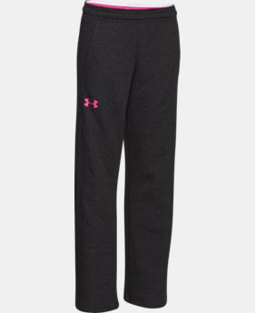 Girls' UA Rival Fleece Pant  1  Color Available $39.99