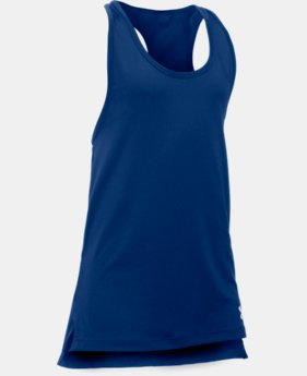 Best Seller Girls' UA Luna Tank LIMITED TIME: FREE SHIPPING 3 Colors $22.99