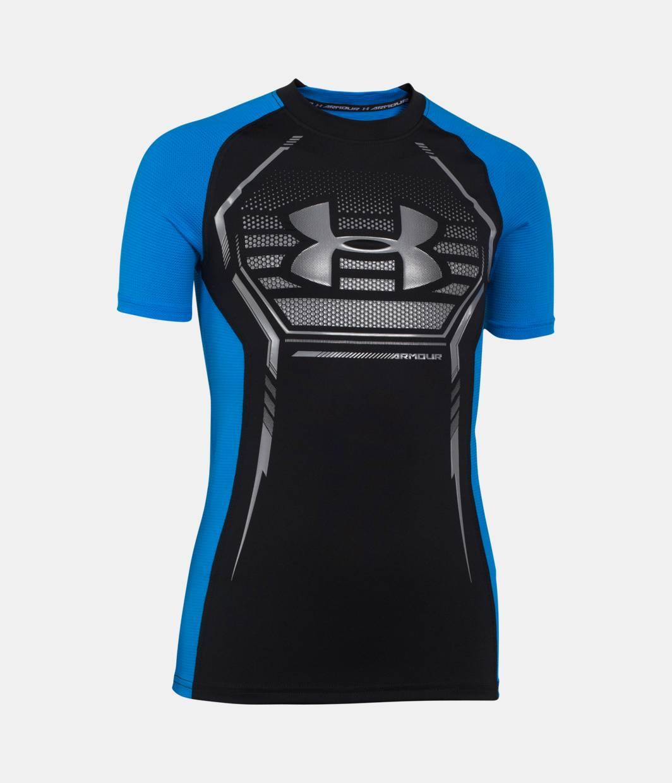 Boys Ua Heatgear Armour Up Short Sleeve Fitted Shirt