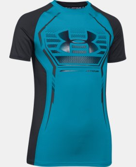 Boys' UA HeatGear® Armour Up Short Sleeve Fitted Shirt  1 Color $29.99
