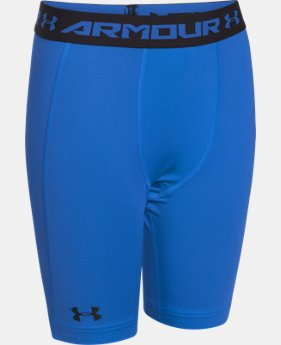 Boys' UA HeatGear® Armour Fitted Shorts – Long LIMITED TIME: FREE U.S. SHIPPING 1 Color $14.24 to $18.99