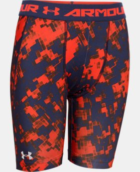 Boys' UA HeatGear® Armour Fitted Shorts – Long LIMITED TIME: FREE U.S. SHIPPING  $14.24 to $14.99
