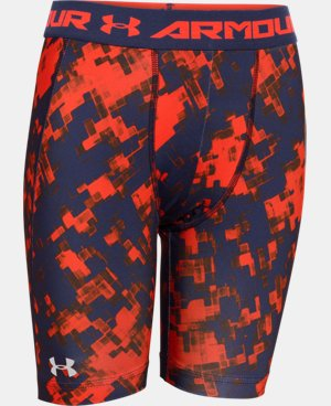 Boys' UA HeatGear® Armour Fitted Shorts – Long  1 Color $14.24