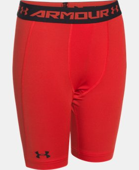 Boys' UA HeatGear® Armour Fitted Shorts – Long   $14.99