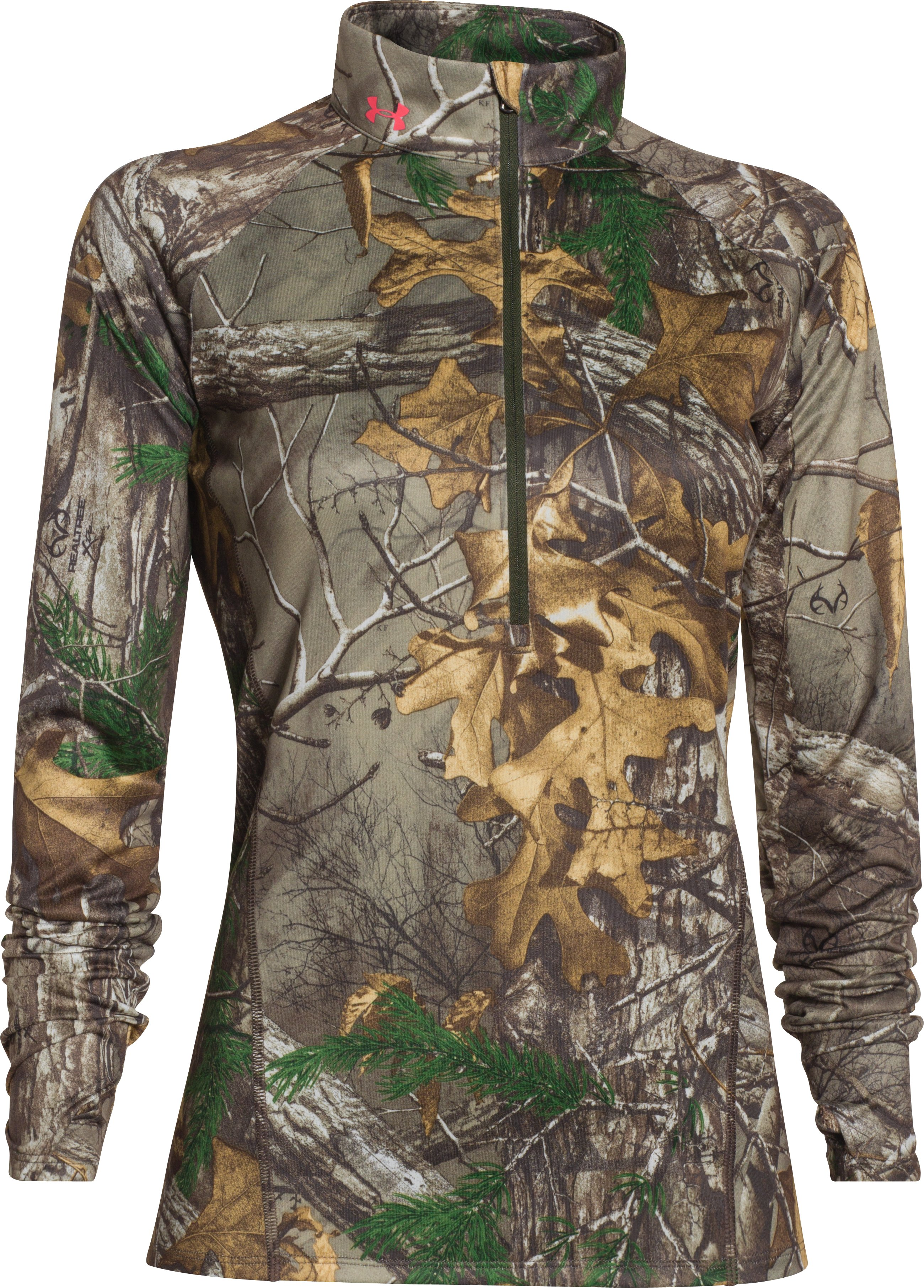 Women's UA Tech Camo 1/2 Zip , REALTREE AP-XTRA