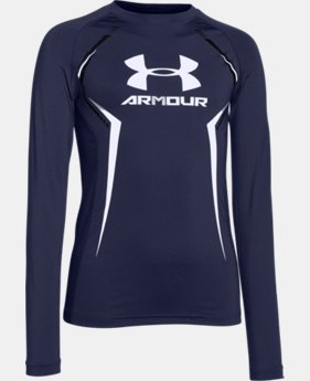 Boys' UA HeatGear® Armour Up Long Sleeve Fitted Shirt  1 Color $20.24