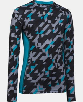 Boys' UA HeatGear® Armour Up Long Sleeve Fitted Shirt  2 Colors $20.99 to $26.99