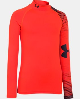 Boys' UA ColdGear® Armour Big Logo Fitted Mock  1 Color $20.24 to $25.49