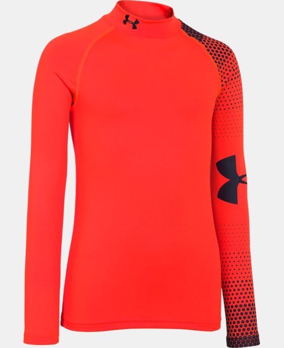 Boys' UA ColdGear® Armour Big Logo Fitted Mock  1 Color $26.99
