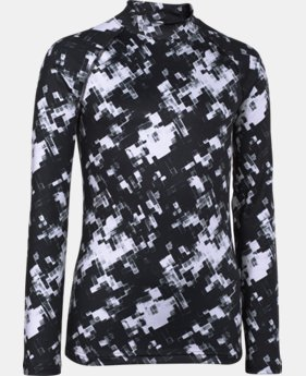 Boys' UA ColdGear® Armour Printed Fitted Mock  1 Color $33.99