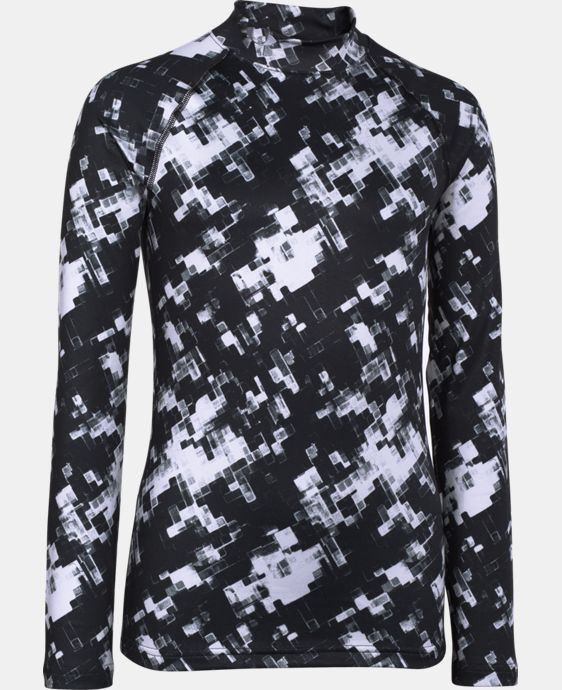 Boys' UA ColdGear® Armour Printed Fitted Mock LIMITED TIME OFFER + FREE U.S. SHIPPING 1 Color $33.74