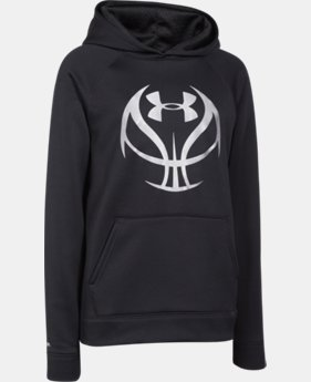 Boys' UA Storm Armour® Fleece Basketball Logo Hoodie  1 Color $37.99