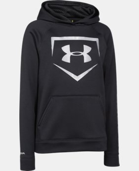 Boys' UA Storm Armour® Fleece Baseball Logo Hoodie   $29.99