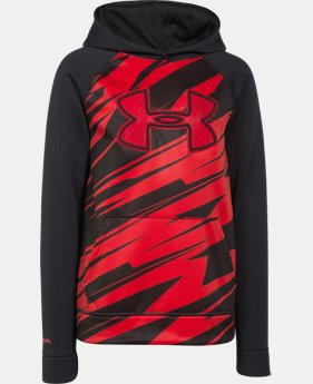 Boys' UA Storm Armour® Fleece Printed Big Logo Hoodie  4 Colors $37.99