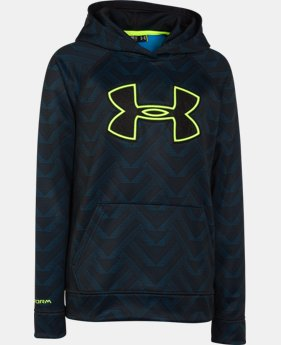 Boys' UA Storm Armour® Fleece Printed Big Logo Hoodie  2 Colors $37.99