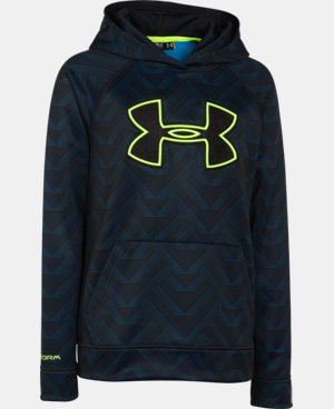 Boys' UA Storm Armour® Fleece Printed Big Logo Hoodie  5 Colors $28.49 to $37.99