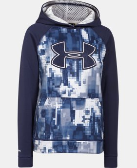 Boys' UA Storm Armour® Fleece Printed Big Logo Hoodie LIMITED TIME: FREE U.S. SHIPPING 1 Color $28.49 to $37.99