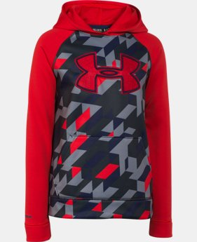 Boys' UA Storm Armour® Fleece Printed Big Logo Hoodie  1 Color $41.99