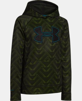 Boys' UA Storm Armour® Fleece Printed Big Logo Hoodie  1 Color $28.49 to $37.99