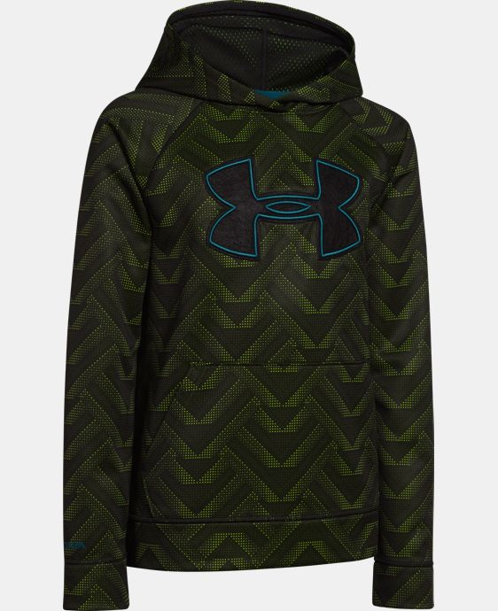 Boys' UA Storm Armour® Fleece Printed Big Logo Hoodie  1 Color $28.49