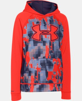 Boys' UA Storm Armour® Fleece Printed Big Logo Hoodie   $28.49 to $37.99