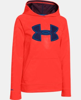 Boys' UA Storm Armour® Fleece Printed Big Logo Hoodie  2 Colors $41.99