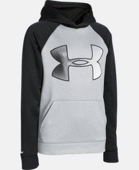 Boys' UA Storm Armour® Fleece Jumbo Logo Hoodie  1 Color $59.99