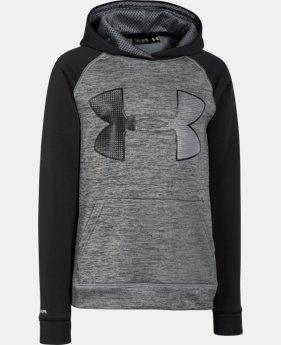 Boys' UA Storm Armour® Fleece Jumbo Logo Hoodie   $28.49 to $37.99