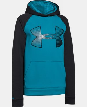 Boys' UA Storm Armour® Fleece Jumbo Logo Hoodie  2 Colors $28.49