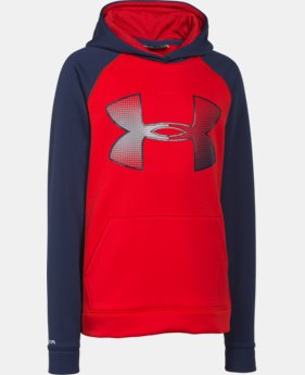 Boys' UA Storm Armour® Fleece Jumbo Logo Hoodie  1 Color $29.99 to $37.99