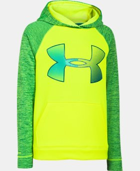 Boys' UA Storm Armour® Fleece Jumbo Logo Hoodie  1 Color $28.49 to $37.99