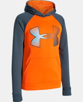 Boys' UA Storm Armour® Fleece Jumbo Big Logo Hoodie   $37.99