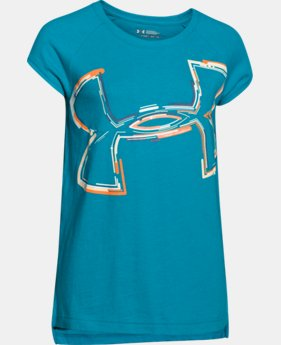 Girls' UA Charged Cotton Tri-Blend Impulse Logo T-Shirt  1 Color $18.99