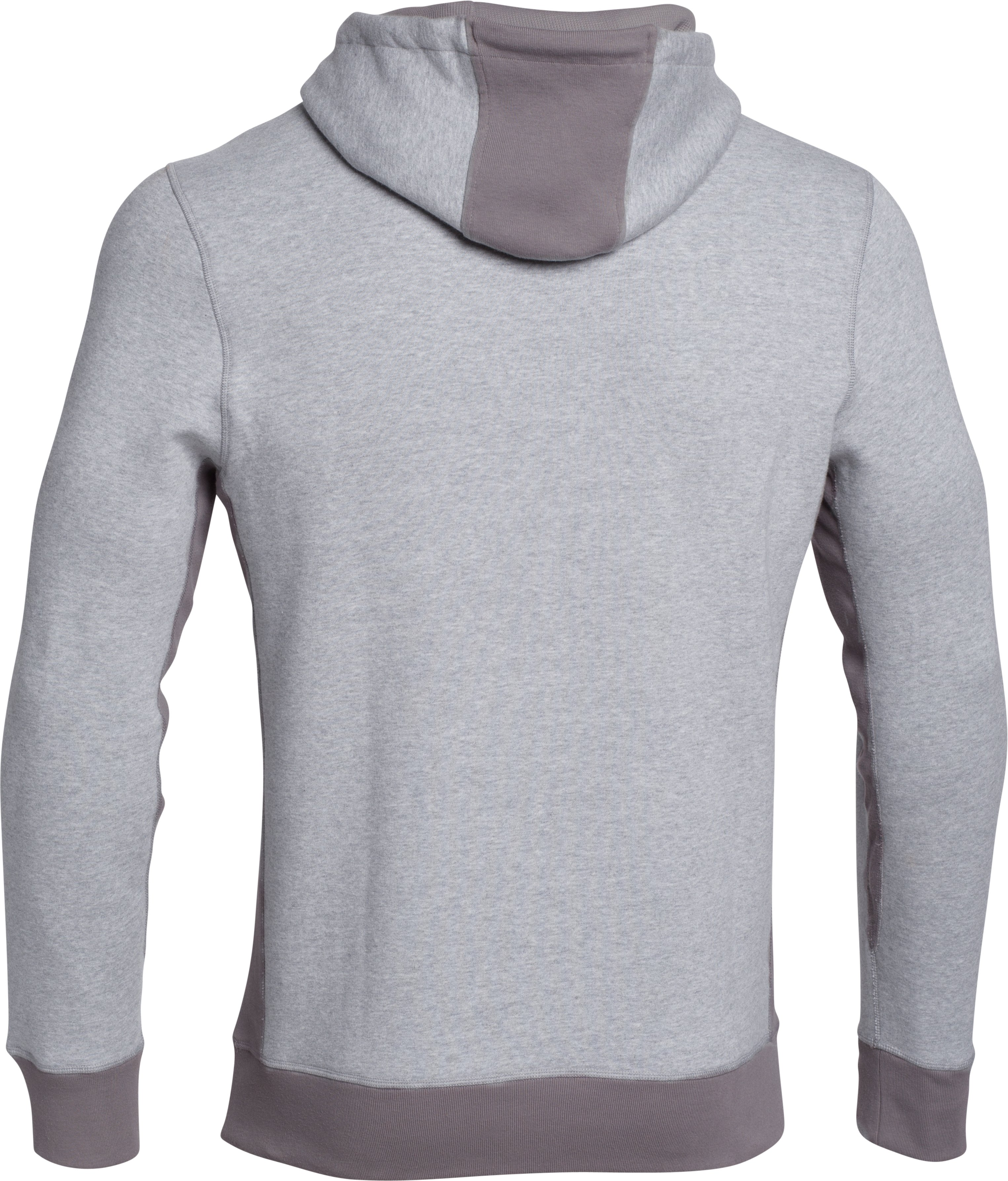 Men's Charged Cotton® Heavyweight Graphic Hoodie, True Gray Heather, undefined