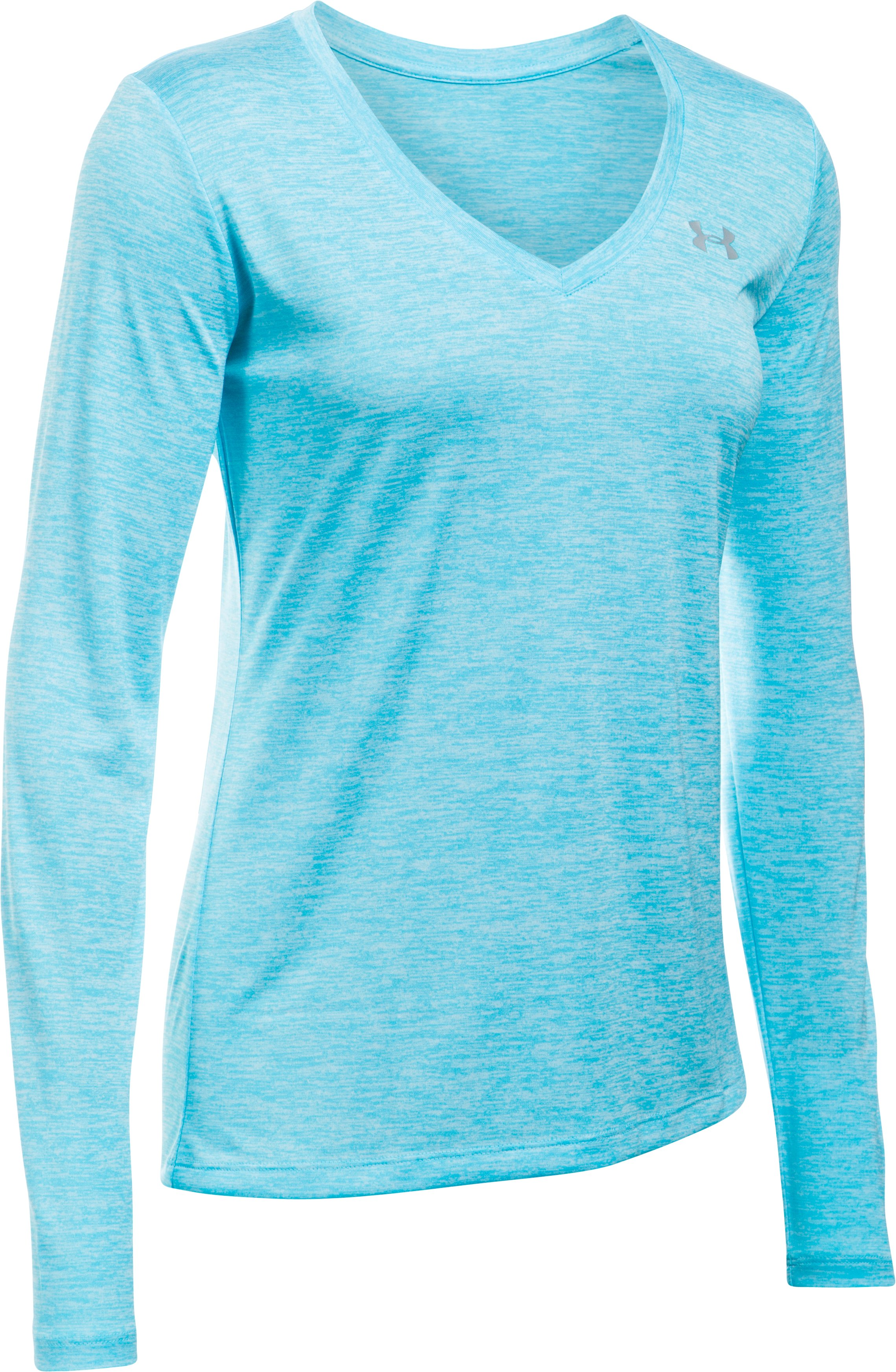 Women's UA Tech™ Twist Long Sleeve, Venetian Blue,