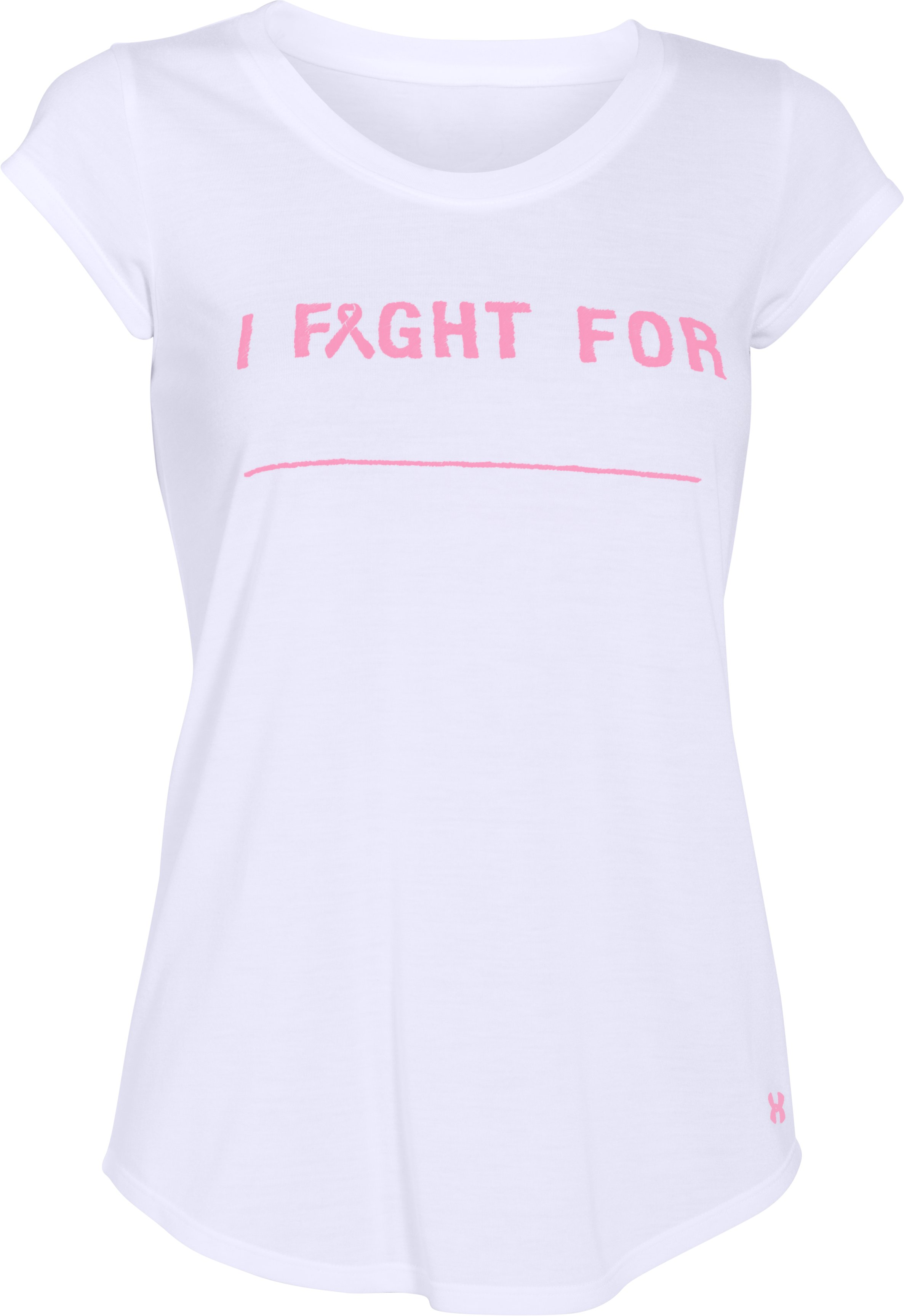 Women's UA Power In Pink® I Fight For T-Shirt, White, undefined