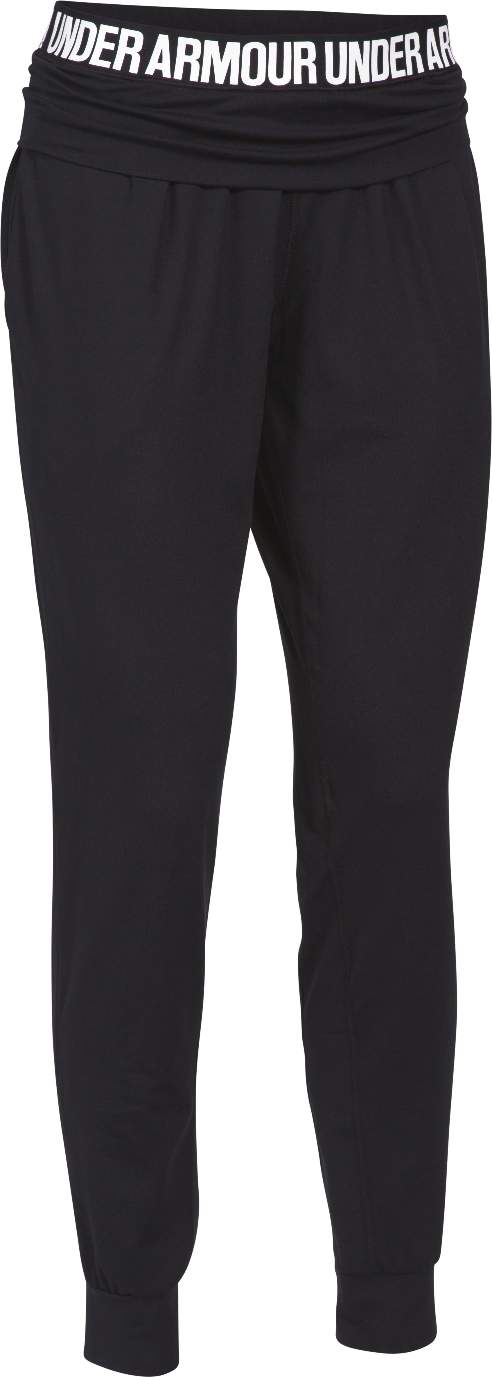 Women's UA Downtown Knit Pants, Black ,