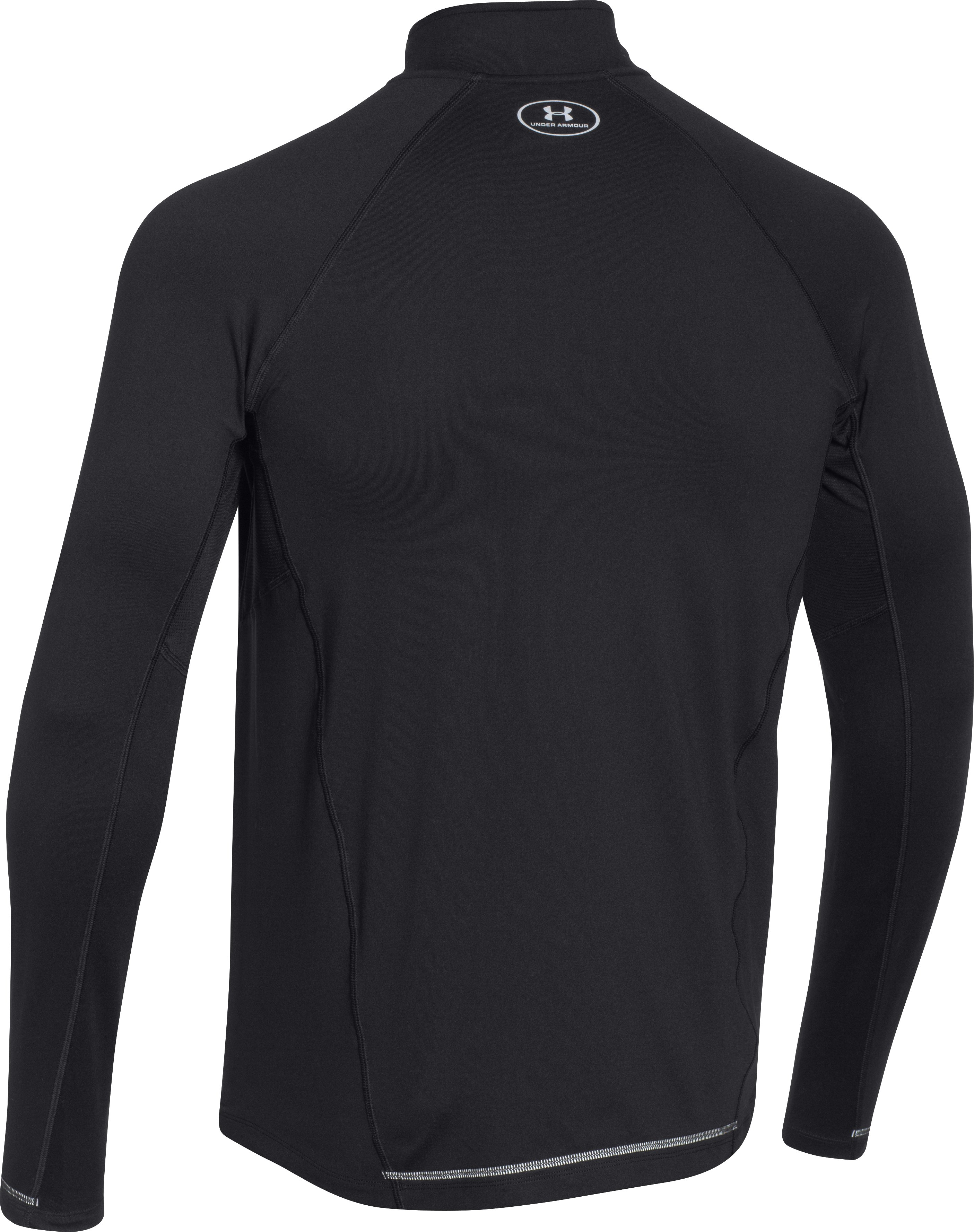 Men's UA Launch Run ¼ Zip, Black , undefined