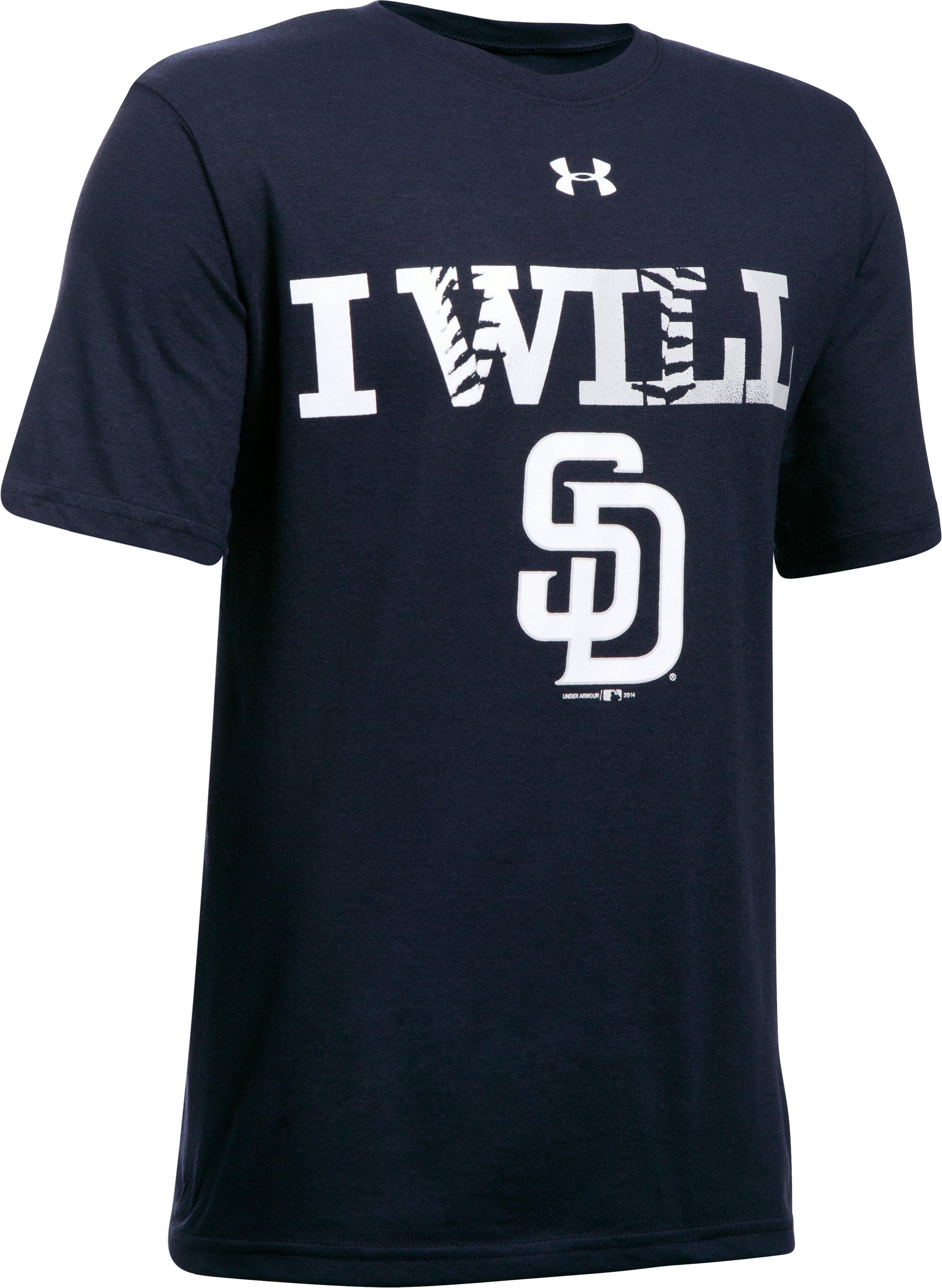 Kids' San Diego Padres UA Tech™ T-Shirt, Midnight Navy, undefined